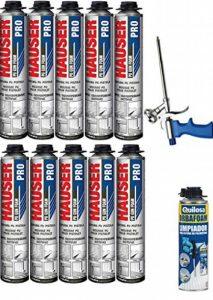 10 Mousses expansives polyuréthane 750 ml pour Pistolet + 1 Pistolet + 1 Nettoyant de la marque OMHSEN image 0 produit