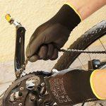 12 paires de gants de travail par ISC H & S, nylon, enduit de PU ; disponible en S petit (7), M moyen (8), L large (9), XL x-large (10), XXL xx-large (11) ; sans couture, polyvalent, noir de la marque ISC Hygiene & Safety image 4 produit