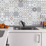 60 Stickers adhésifs carrelages   Sticker Autocollant Carrelage - Mosaïque carrelage mural salle de bain et cuisine   Carrelage adhésif - artistique nuances de gris - 10 x 10 cm - 60 pièces de la marque Ambiance-Live image 2 produit