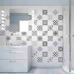 60 Stickers adhésifs carrelages   Sticker Autocollant Carrelage - Mosaïque carrelage mural salle de bain et cuisine   Carrelage adhésif - nuance de gris élégants - 10 x 10 cm - 60 pièces de la marque Ambiance-Live image 1 produit