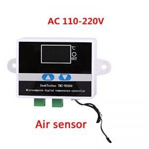 AC110–240V Digital LED contrôleur de température Thermostat Switchwith testeur de température commutateur de commande Mode de chauffage et de refroidissement avec sonde étanche de la marque Beimaji Trade image 0 produit