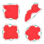 Alcoon 8 Pièces Lisseurs de Joints Outils d'étanchéité Kit de Scellage du dégraissant en Silicone de Calfeutrage Outil Pour la Salle de Bain Cuisine et Joints d'étanchéité à Cadres de la marque Alcoon image 2 produit