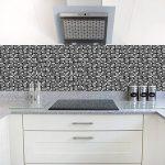 APSOONSELL Auto-adhésif étanche en marbre mosaïque Murale de Cuisine Meubles Autocollant pour carrelage Autocollant Mural ( 10pcs, 8 * 8inches 20cm*20cm de la marque APSOONSELL image 3 produit