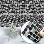 APSOONSELL Auto-adhésif étanche en marbre mosaïque Murale de Cuisine Meubles Autocollant pour carrelage Autocollant Mural ( 10pcs, 8 * 8inches 20cm*20cm de la marque APSOONSELL image 1 produit