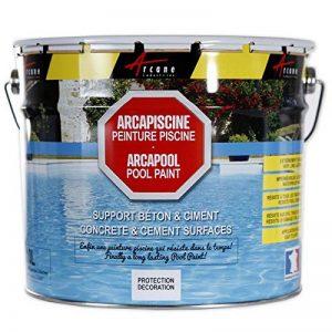ARCAPISCINE - Peinture piscine Protection et décoration bassin Support béton et ciment Mise en oeuvre facile Bleu blanc ou gris - blanc, 2.5 l de la marque ARCANE INDUSTRIES image 0 produit