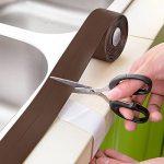 Baignoire calfeutrer Strip PE Autocollant de baignoire et mur Bande d'étanchéité Mastic Enduit, 1–1/5,1cm X 11'-brown de la marque MoonCity image 4 produit
