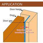 Bande de Joint D-Profil,GoodYH Joint de porte en mousse Autocollant EPDM Lot de 2 Rouleaux 6 m Fenêtre de porte Bande de Joint (Blanc et Brun) de la marque GoodYH image 4 produit
