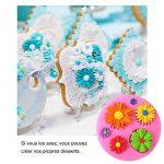 BESTZY Lot de 3 Moules à Gâteau en Silicone Fondant Fleurs Papillons Décoration Gâteau Pâtisserie Moule DIY de Cupcake de la marque BESYZY image 2 produit