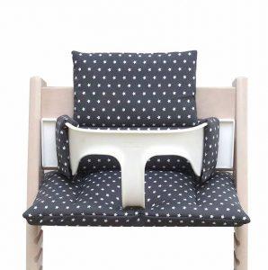 Blausberg Baby *41 couleurs* coussin set de siège pour chaise haute Stokke Tripp Trapp (Gris foncé étoile ENDUIT) - 100% made in Hamburg de la marque Blausberg image 0 produit