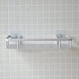 Caddie de douche en aluminium espace avec ventouses super fortes étagères murales de salle de bain antirouille Caddy de stockage de cuisine de la marque mony image 0 produit