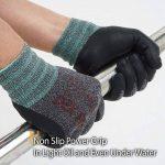 DEX FIT Gants de travail nitrile légers FN330, Comfort 3D Stretchy Fit, Power Grip, Smart Touch, Revêtement en mousse durable, Lavable à la machine, Gris Noir X-Grand 3 Paires de la marque DEX FIT image 2 produit