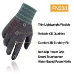 DEX FIT Gants de travail nitrile légers FN330, Comfort 3D Stretchy Fit, Power Grip, Smart Touch, Revêtement en mousse durable, Lavable à la machine, Gris Noir X-Grand 3 Paires de la marque DEX FIT image 1 produit