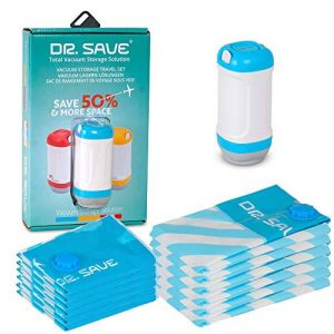 Dr. Save Handheld Sacs de Rangement sous Vide avec Enduit–Lot Plus dans Votre Valise avec hermétique, Sacs de Voyage d'encombrement, compresses avec Une Pompe électrique de la marque Dr. Save image 0 produit