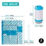 Dr. Save Handheld Sacs de Rangement sous Vide avec Enduit–Lot Plus dans Votre Valise avec hermétique, Sacs de Voyage d'encombrement, compresses avec Une Pompe électrique de la marque Dr. Save image 3 produit