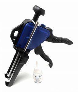 FoxFix Dosierpistole 1:1 für 50ml + 20ml Cleaner Nr.3 Kartuschen Kartuschenpistole Kunststoffkleber 2K Metallkleber de la marque FoxFix image 0 produit
