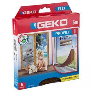 Geko 940009 I-Profil Calfeutrage portes et fenêtres autoadhésif Peut être découpé à la taille souhaitée Marron 6 x 9 x 3mm de la marque Geko image 0 produit