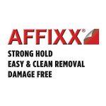 InterDesign AFFIXX porte-clé mural, accroche-clé en plastique à fixer sans percer, organisateur clés de taille moyenne avec 4 crochets, blanc de la marque InterDesign image 2 produit