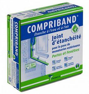 Joint d'étanchéité COMPRIBAND pour portes et fenêtres - expansion de 3 à 7 mm - largeur 20 mm - rouleau 8 m - Boîte de 3 Rouleaux de la marque COMPRIBAND image 0 produit