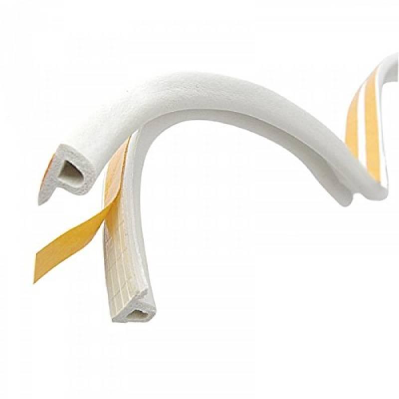 STEIGNER 20 m Joint de Fen/être Autocollant Profil D Blanc Joint en Caoutchouc EPDM Joint d/Étanch/éit/é