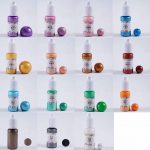 Joligel Résine époxy Transparent Deux parties AB Colle bicouche de type dur avec 6 moules en silicone pour bijoux artisanaux avec 12 décorations de fleurs séchées de la marque Joligel image 2 produit