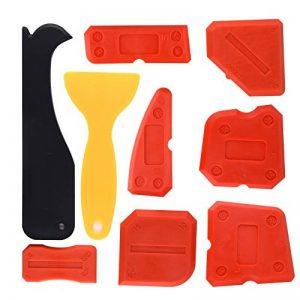 Kuuqa 9 Pièces Lisseur Joint Silicone de Finition Lissage Kit de Calfeutrage Kit pour la Cuisine Salle de Bain Étanche, Rouge de la marque KUUQA image 0 produit