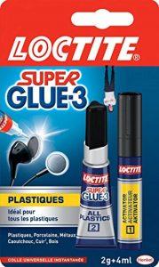 Loctite Super Glue-3 Spécial plastiques, colle forte pour tout plastique, colle transparente à séchage immédiat, tube de colle 2 g et stylo activateur 4 ml de la marque Loctite image 0 produit