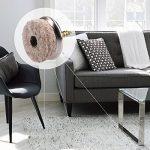 Navaris 20x Patins à vis en feutre - Patins à visser 25 mm pour protection du sol pour chaises et meubles - Feutre et métal - Rond de la marque Navaris image 1 produit