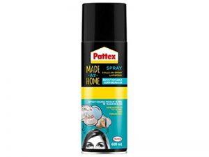 Pattex 1954466 Made at Home-Colle Repositionnable-Spray 400ml, Transparent de la marque Pattex image 0 produit