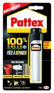 Pattex Pâte à réparer epoxy 100% colle - Multi usages et compatible avec de nombreux matériaux - Contient 2 composants - 1 x 64 g de la marque Pattex image 0 produit