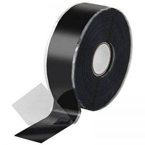 Poppstar 10088641x 11m auto-soudable bande silicone, bande en silicone Tape Ruban de réparation Ruban adhésif isolant et joint (Eau, Air), noir, largeur 25mm de la marque Poppstar image 0 produit