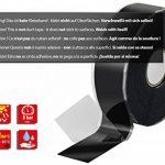 Poppstar 10088641x 11m auto-soudable bande silicone, bande en silicone Tape Ruban de réparation Ruban adhésif isolant et joint (Eau, Air), noir, largeur 25mm de la marque Poppstar image 1 produit