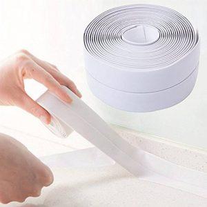 Ruban adhésif étanche et anti-moisissure en PVC, pour joints - Pour cuisine et salle de bain - 335x3,8cm blanc de la marque D&&R image 0 produit