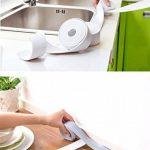 Ruban adhésif étanche et anti-moisissure en PVC, pour joints - Pour cuisine et salle de bain - 335x3,8cm blanc de la marque D&&R image 4 produit