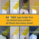 -Ruban double face tout usage, pour montage, tapis, planchers - Adhésif extra fort - Ruban adhésif pour bois, stratifié, carrelage et plus - Colle à n'importe quelle surface de la marque Kraftex image 3 produit