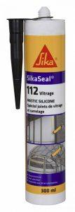 SikaSeal 112 Vitrage - Mastic silicone spécial joint de fenêtre et carrelage - SNJF - 300ml - Noir de la marque SIKA FRANCE S.A.S image 0 produit