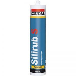 Soudal 101550 Silirub S Mastic Silicone Sanitaire Acétique, Noir, 310 ML de la marque Soudal image 0 produit