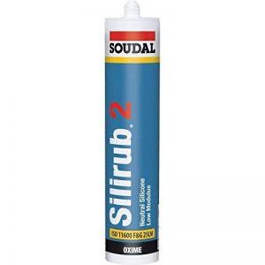Soudal 102392 Silirub 2 Mastic Silicone Neutre, Blanc, 310 ml de la marque Soudal image 0 produit