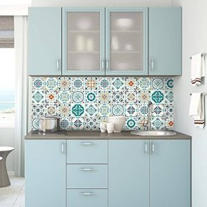 Stickers adhésifs carrelages muraux azulejos - 20 x 20 cm - 30 pièces de la marque Ambiance-Live image 0 produit