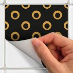 Stickers adhésifs carrelages   Sticker Autocollant Carreaux de ciment - Mosaïque carrelage mural salle de bain et cuisine   Carreaux de ciment adhésif mural - azulejos 10 x 10 cm - 15 pièces de la marque Ambiance-Live image 3 produit
