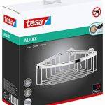 tesa Aluxx - panier de douche d'angle, Aluminium Chromé, Garanti Inoxydable, Montage sans perçage - 92Mm x 192Mm x 200mm de la marque Tesa image 3 produit