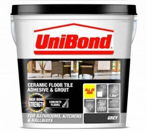 UniBond Adhésif large pour carrelage en céramique/enduit de jointement pour sols en béton Gris de la marque Unibond image 0 produit