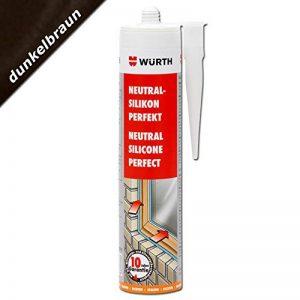 Würth Joint en silicone neutre Marron foncé Cartouche de 310 ml pour vitres de fenêtre de la marque Würth image 0 produit