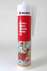 WURTH A8 pro Mastic silicone neutre gris anthracite RAL 7016 PVC bâtiment 310ml de la marque Würth image 0 produit